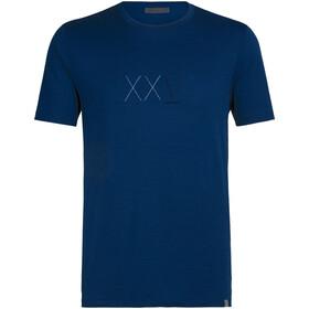 Icebreaker Nature Dye Tech Lite Anniversary XXV T-shirt à col ras-du-cou Homme, true indigo dark